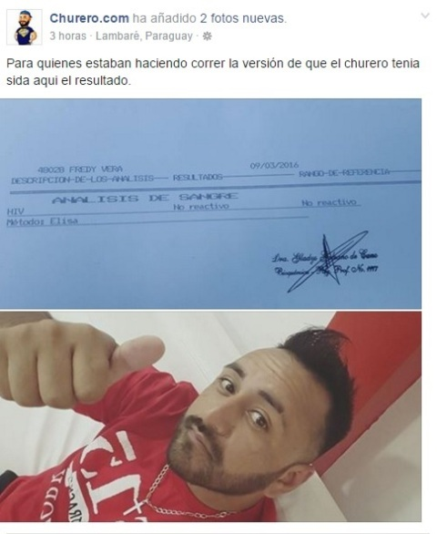 Captura del facebook del Churero