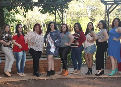 Candidatas a Miss Gordita Paraguay 2019.